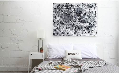 Liberator Shades of Grey Love Is Art Canvas and Paint Romantic Gift Set