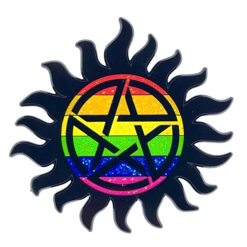 Geeky and Kinky Supernatural Pride Pin