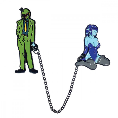 Geeky and Kinky Boba Fett Pimp and Sex Slave Pins