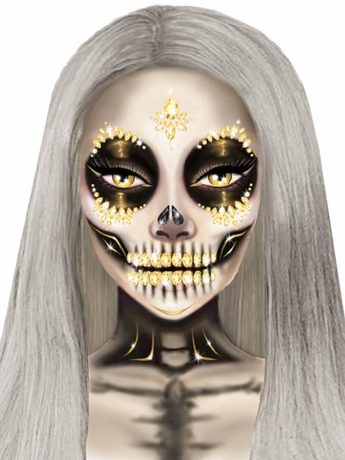 Sugar Skull Jewel Face Stickers