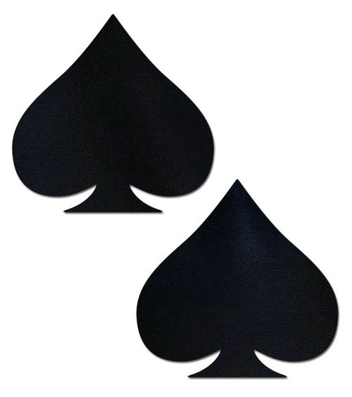 Pastease Black Spade Nipple Pasties