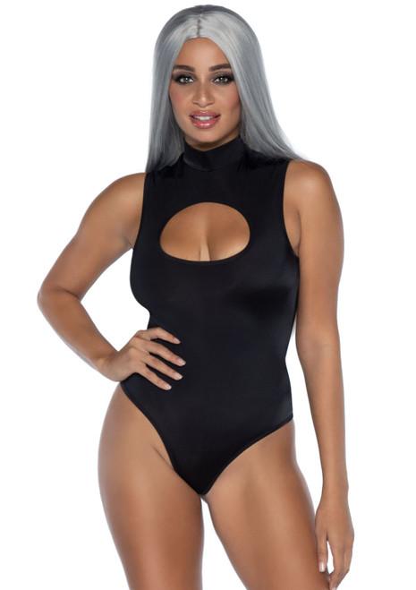 Black Spandex Keyhole Bodysuit by Leg Avenue