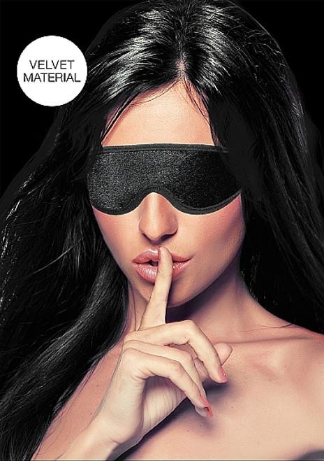 Shots Ouch! Black Velvet and Velcro Adjustable Eye Mask