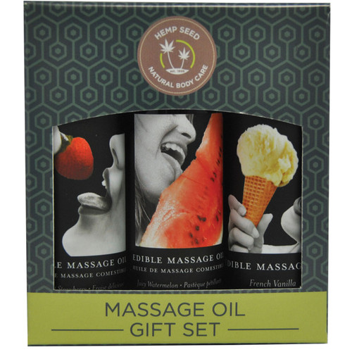 Edible Natural Massage Oil Gift Set by Earthly Body