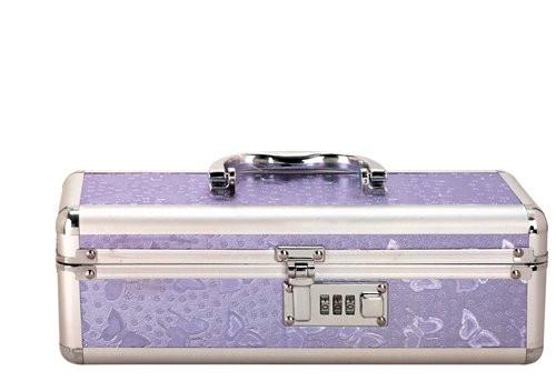 Medium Lockable Vibrator Storage Case by BMS-Purple