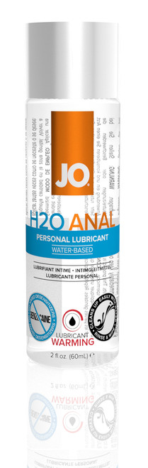 JO Warming H2O Anal Water Based Lubricant by System JO-2 oz