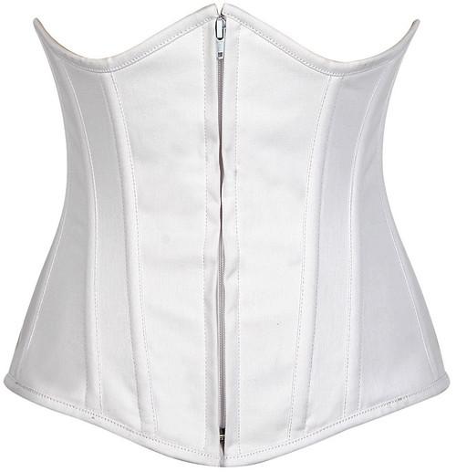 Lavish Cotton Boned Under Bust Corset by Daisy Corsets-White