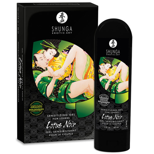 Lotus Noir Organic Couples Sensitizing Gel for Lovers by Shunga Erotic Art