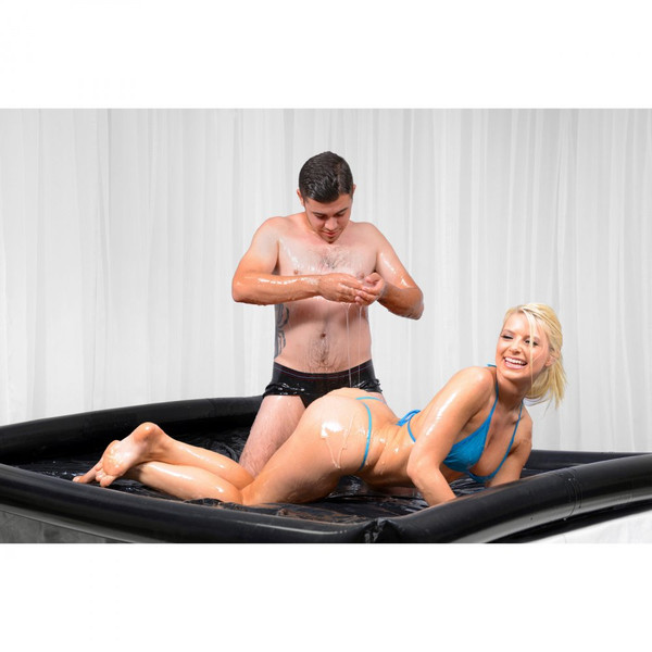 Nuru Inflatable Black Vinyl Massage Sheet