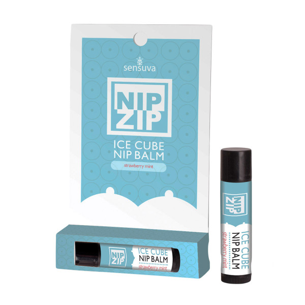 Nip Zip Ice Cube Cooling Nip Balm by Sensuva-Strawberry Mint