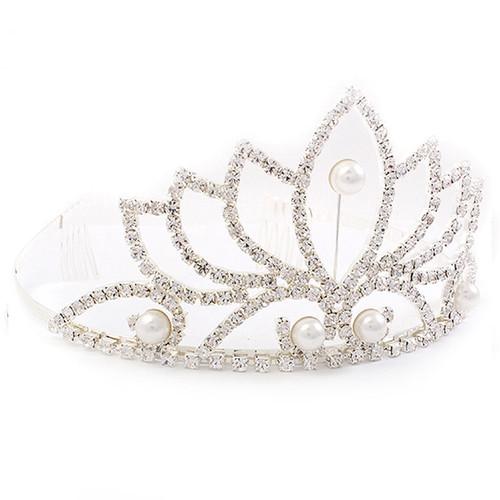 Accessoriesforever Bridal Wedding Rhinestone Crystal Pearl Hair