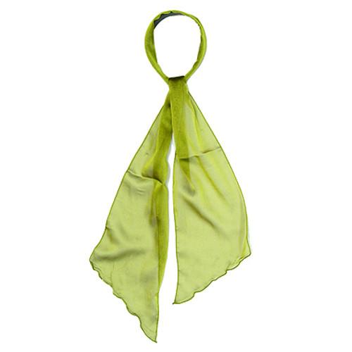 Fashion Scarf Look Headband Chiffon Solid Olive Green