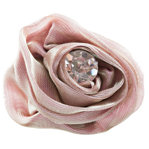 Organdy Fabric Floral Rose Adjustable 1 Ring Brown