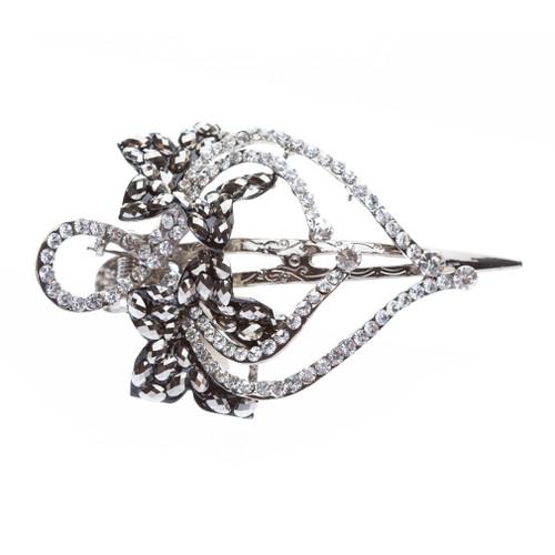 Beautiful Sparkle Crystal Rhinestone Fashion Hair Clip Pin Gorgeous Floral