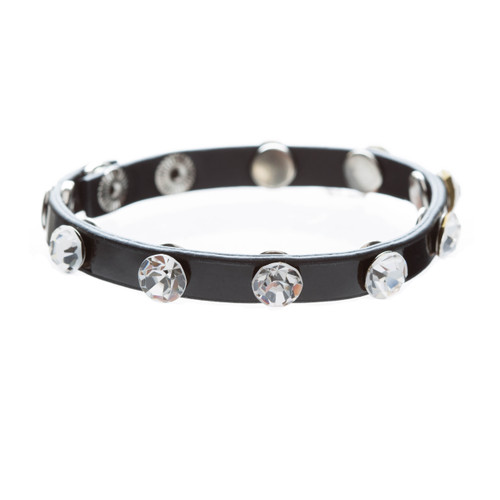 Simple Beautiful Stylish Crystal Rhinestone Studs Fashion Wrap Bracelet Black
