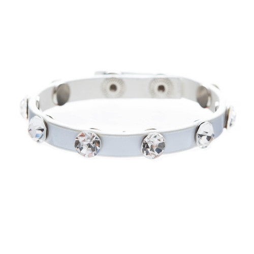 Simple Beautiful Stylish Crystal Rhinestone Studs Fashion Wrap Bracelet White