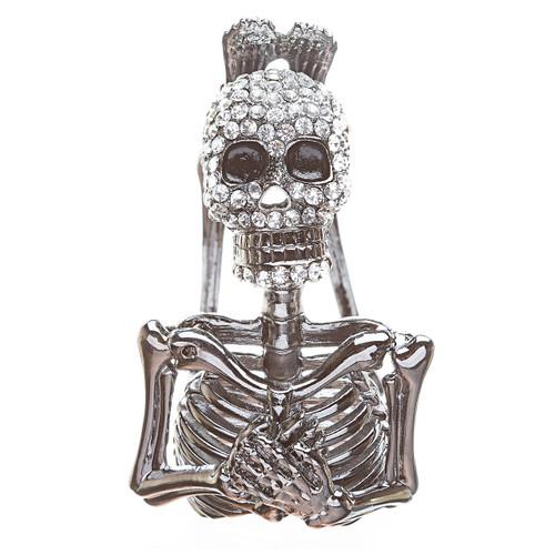 Halloween Costume Jewelry Crystal Rhinestone Funky Gothic Style Bracelet B414SL