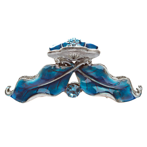 Austrian Crystal Hair Claw Clip Jewelry Cobalt Blue