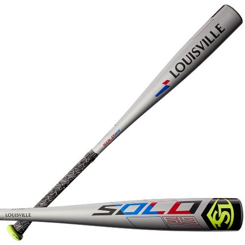 2019 Louisville Slugger Solo 619 Alloy Youth 2018+ Baseball Bat, -11 Drop, 2-5/8 in Barrel, WTLUBS619B11