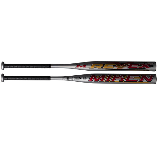2019 Miken Rev-Ex Dual-Stamp USSSA ASA Slow Pitch Softball Bat, 14.0 in Barrel, MREVEX