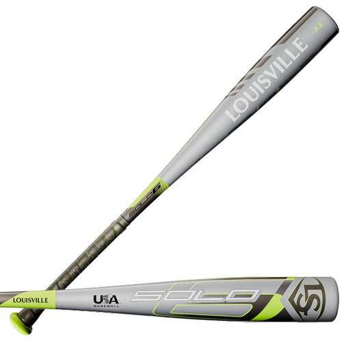 2020 Louisville Slugger Solo Alloy Youth 2018+ Baseball Bat, -11 Drop, 2-5/8 in Barrel, WTLUBS6B1120