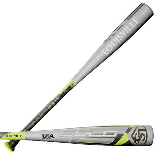 2020 Louisville Slugger Solo Alloy Youth 2018+ Baseball Bat, -11 Drop, 2-5/8 in Barrel, WTLUBS6B1120