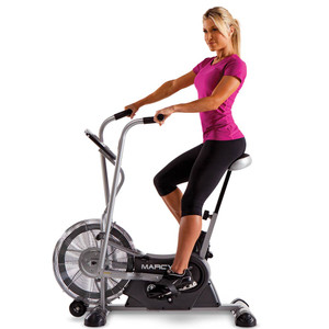 The Marcy AIR-1 Deluxe Fan Bike in use by Model