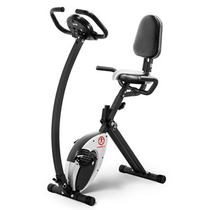The Marcy Foldable Exercise Bike with High Back Seat NS-653 has a high back seat for comfort