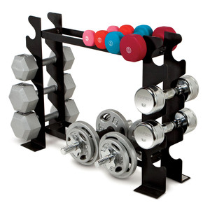 Compact Dumbbell Rack DBR-56 by Marcy can organizing a wide variety of weights