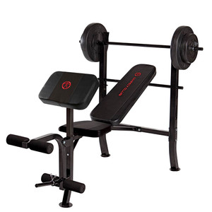 The Standard Bench with 80lbs Weight Set MKB-2081 is a complete weightbench with 80 pounds of included weight plates