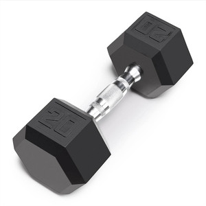 The Marcy 20 LB. Rubber Hex Dumbbell IBRH-020 is the best free weight for your high intensity interval body building training
