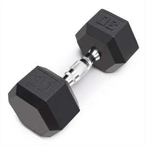 The Marcy 30 LB. Rubber Hex Dumbbell IBRH-030 is the best free weight for your high intensity interval body building training