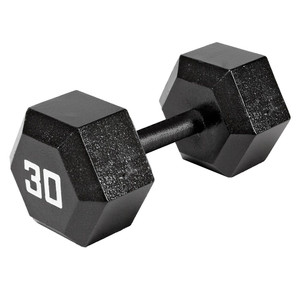 The Marcy 30 LB. Hex Dumbbell IV-2030 free weight optimizes your high intensity interval body building training