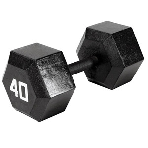 The Marcy 40 LB. Hex Dumbbell IV-2040 free weight optimizes your high intensity interval body building training