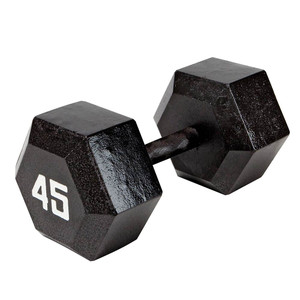 The Marcy 45 LB. ECO Hex Dumbbell IV-2045 free weight optimizes your high intensity interval body building training