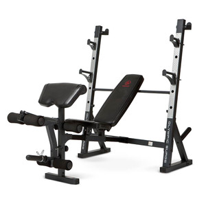 The Marcy Olympic Weight Bench MD-857 by Marcy adds variety to your workout with incline, decline, flat and Military positions