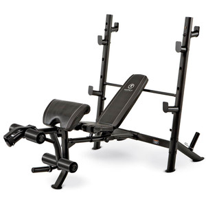 The Marcy Diamond Mid Size Bench MD-867W by Marcy adds variety to your workout with incline, decline, flat and Military positions