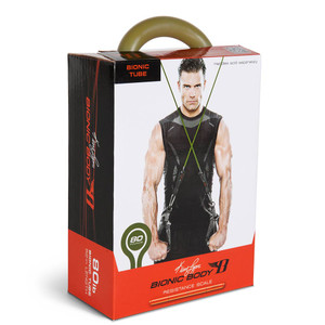 Long lasting Bionic Body 80 lb. Resistance Band Inside of the package