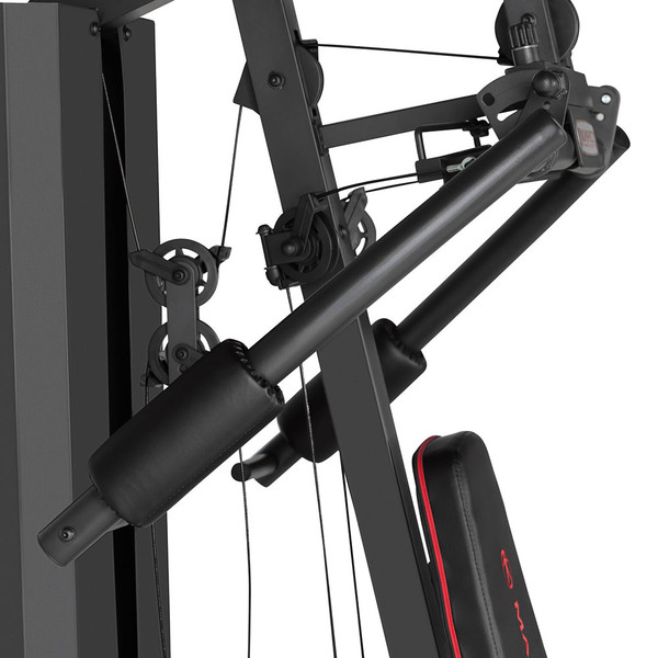 The Marcy Club 200 Lb Home Gym MKM-81010 has a durable cable system