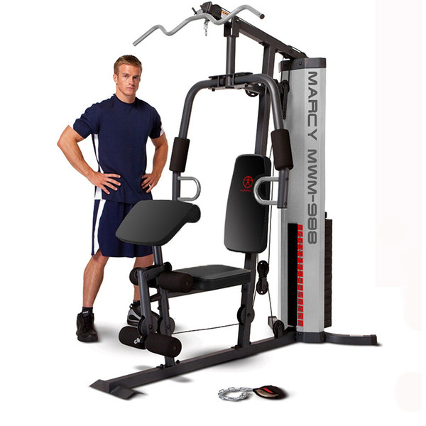 The Marcy 150 Lb Weight Stack Home Gym - MWM-988 with model