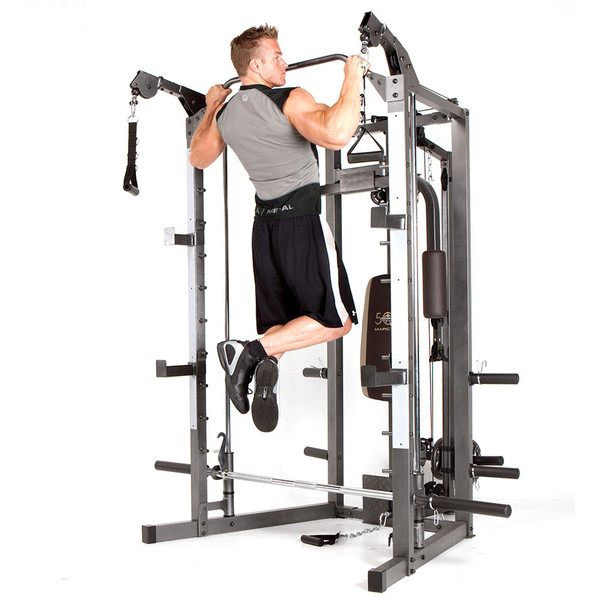 The Marcy Smith Machine SM-4008 in use - pull ups
