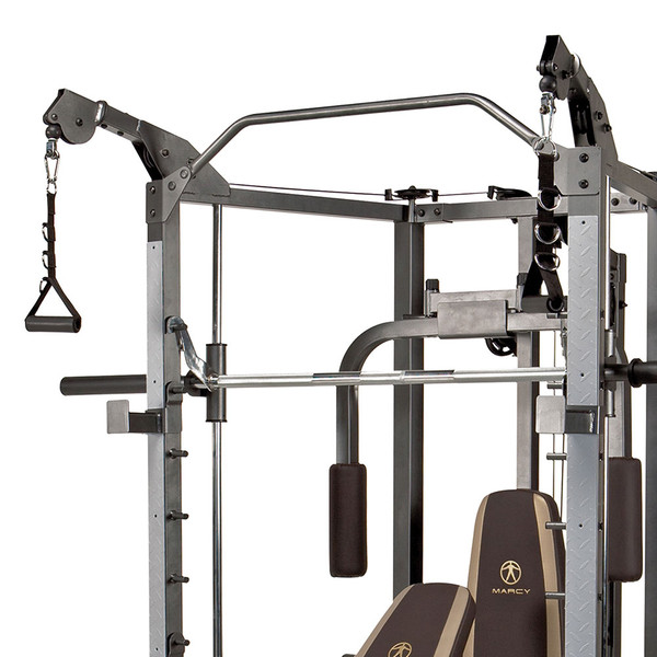 The Marcy Smith Machine SM-4008 comes with a high quality cable pulley system