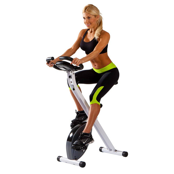 Model with the Foldable Upright Bike Marcy NS-652