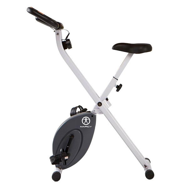 The Foldable Upright Bike Marcy NS-652 brings a high intensity cardio conditioning workout to your home gym