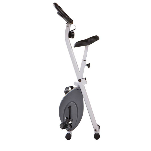 The Foldable Upright Bike Marcy NS-652 folds for convenient storage and easy transportation