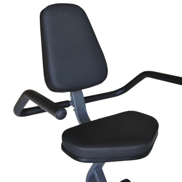 The Recumbent Bike ME-709 has thick padding for those extended intense workouts