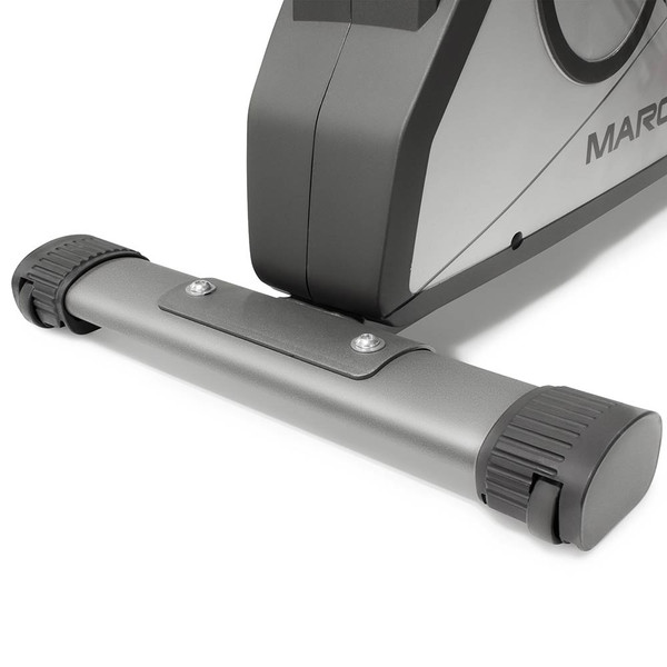 The Recumbent Bike NS-40502R by Marcy has wheels for easy transportation
