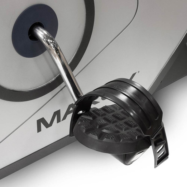 The Recumbent Bike NS-40502R by Marcy has looped pedals with added grip for additional safety