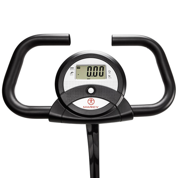 The Marcy Foldable Exercise Bike with High Back Seat NS-653 has a display screen to help track your progress