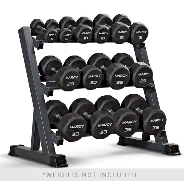 The Marcy 3 Tier Dumbbell Rack DBR-86 organizes your home gym